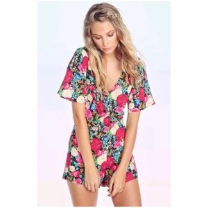 Wildfox Flower Delivery Romper in Multi
